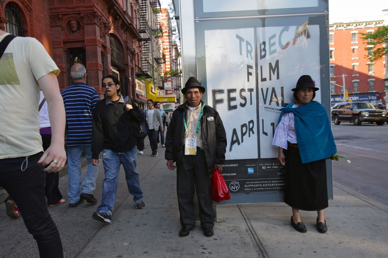 Advertisements for the Tribeca Film Festival plastered the city