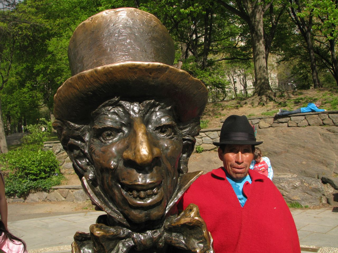 Baltazar with the Mad Hatter in Central Park