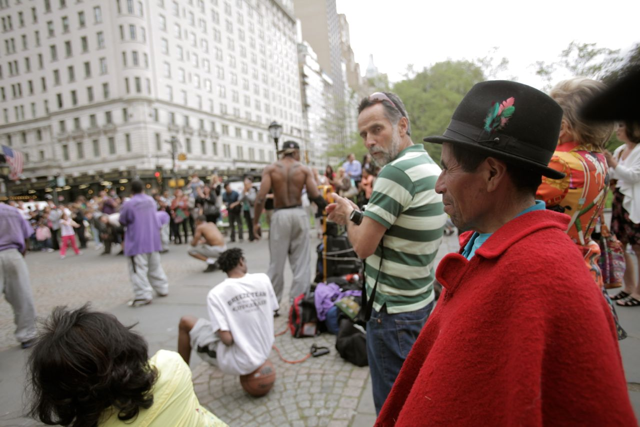 Street performers near Central Park